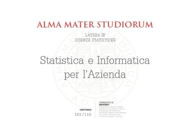 laurea statistica